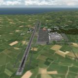 аэропорт окаймленный автострадой